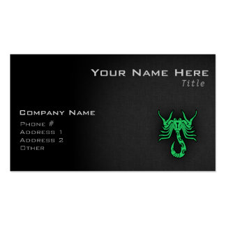 Kelly Green Scorpio Business Card