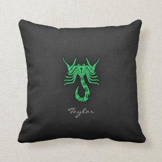 Kelly Green Scorpio Pillow
