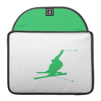 Kelly Green Snow Ski MacBook Pro Sleeve