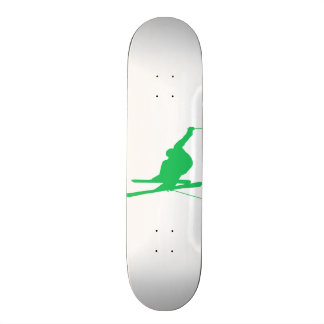 Kelly Green Snow Ski Skateboard Deck
