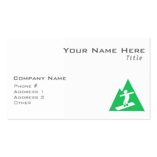 Kelly Green Snowboarding Business Card