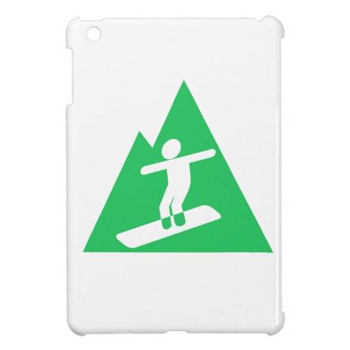 Kelly Green Snowboarding iPad Mini Cover