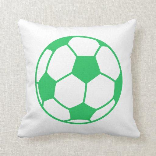 Kelly Green Throw Pillow : Kelly Green Soccer Ball Throw Pillow Zazzle