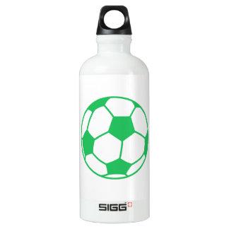 Kelly Green Soccer Ball Water Bottle