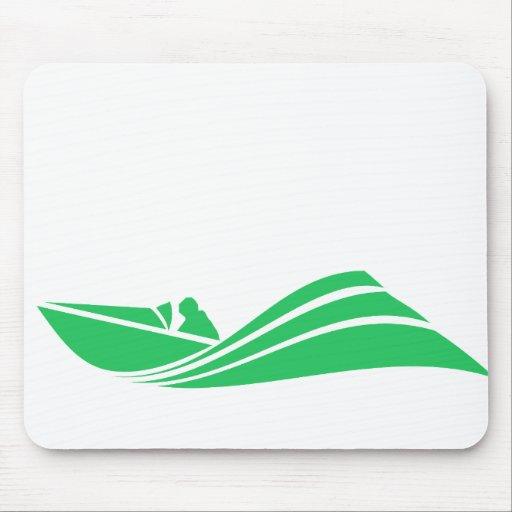 Kelly Green Speed Boat Mousepad