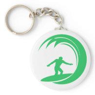 Kelly Green Surfer Keychain