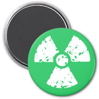 Kelly Green Toxic Waste 3 Inch Round Magnet