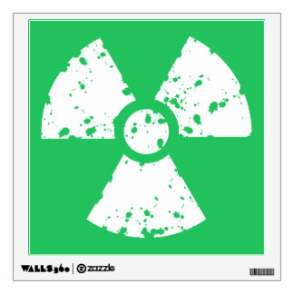 Kelly Green Toxic Waste Wall Sticker