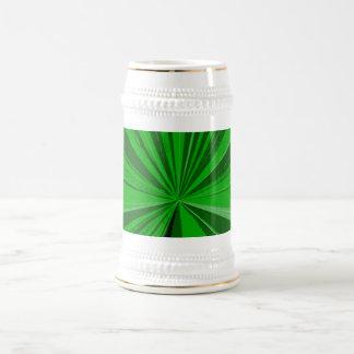Kelly Green Vanishing Point Beer Stein 18 Oz Beer Stein