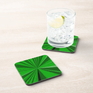 Kelly Green Vanishing Point Cork Coaster Set