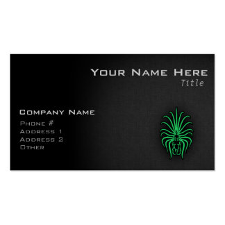 Kelly Green Virgo Double-Sided Standard Business Cards (Pack Of 100)