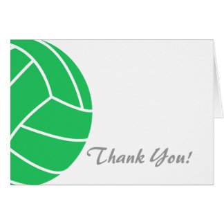 Kelly Green Volleyball Card