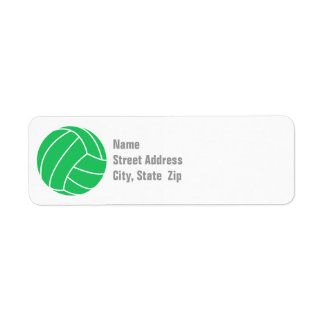 Kelly Green Volleyball Label