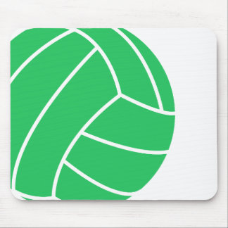 Kelly Green Volleyball Mouse Pad