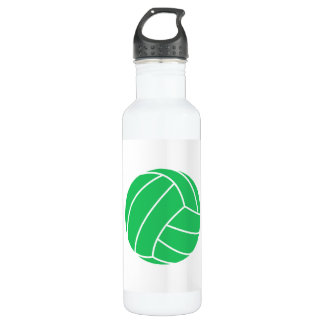 Kelly Green Volleyball Water Bottle