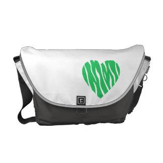 Kelly Green Wild Heart Messenger Bags
