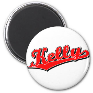 Kelly in red 2 inch round magnet