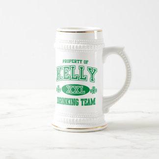 Kelly Irish Drinking Team Beer Stein