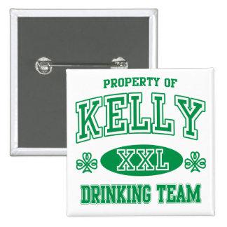 Kelly Irish Drinking Team Button