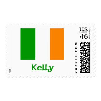 Kelly Irish Flag Postage Stamps