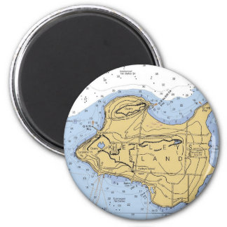 Kelly Island, OH Nautical Chart 2 Inch Round Magnet