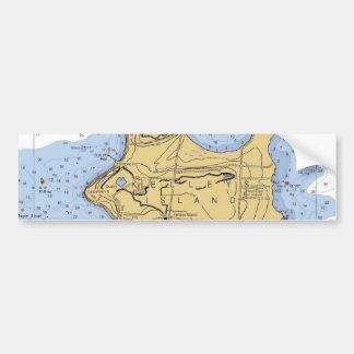 Kelly Island, OH Nautical Chart Bumper Sticker