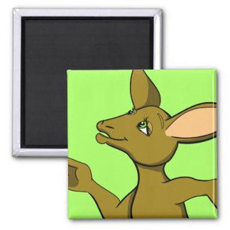 Kelly Kangaroo 2 Inch Square Magnet