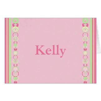 Kelly Modern Circles Custom Name Card