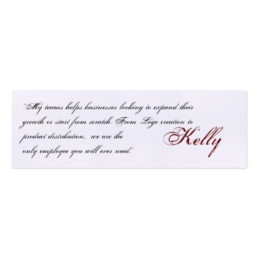 """Kelly , """"My teams helps businesses looking to e... Business Card Templates"""