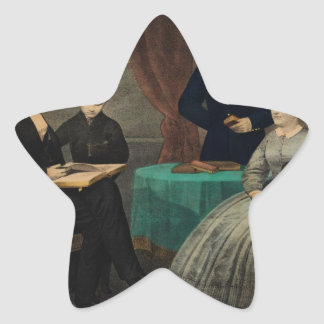 [Kelly & Sons portrait of Abraham Lincoln and his Star Sticker