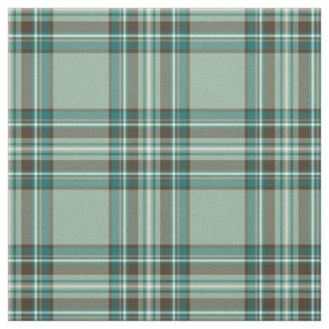 Kelly Tartan Pattern Mint Green Irish Plaid Fabric