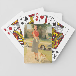 Kelly Tires ad illustration Pin Up Art Playing Cards