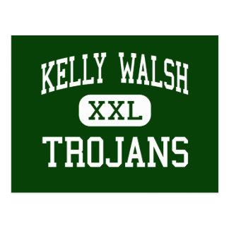 Kelly Walsh - Trojans - High - Casper Wyoming Postcard