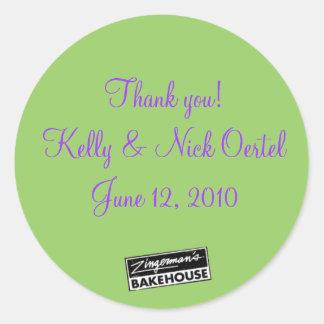 Kelly y Nick #3 Etiqueta Redonda