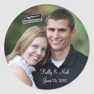 Kelly y Nick #4 Etiquetas Redondas