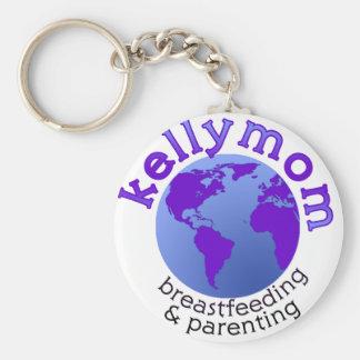 KellyMom Basic Round Button Keychain