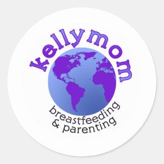 KellyMom Round Stickers