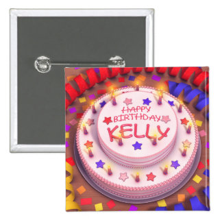 Kelly's Birthday Cake Buttons