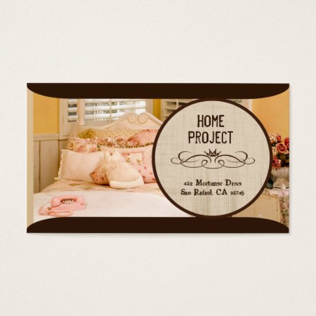 Trendy Brown Design Bed and Breakfast Business Cards