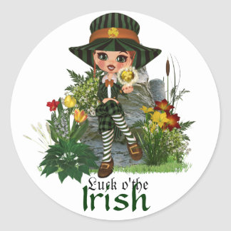 Kelly's Offering St. Patrick's Design Classic Round Sticker