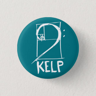 KELP button with bass clef/Fibonacci spiral logo