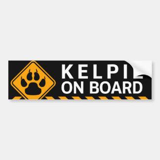 Kelpie a bordo pegatina para auto