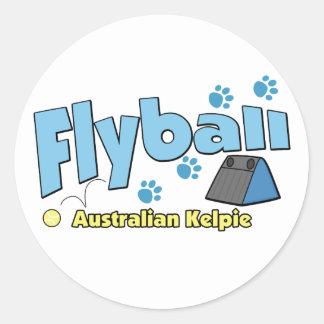 Kelpie australiano Flyball Pegatina