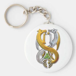 Kelpie gold and silver keychains