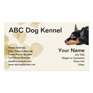 Kelpie negro australiano impresionante tarjeta personal