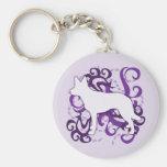 Kelpie púrpura del australiano del remolino llaveros personalizados
