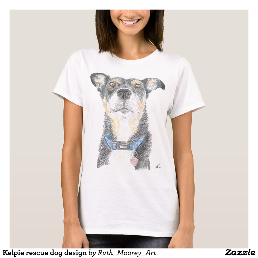 Kelpie Rescue Dog Design T Shirt Creative Fashionable And