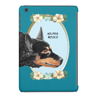 Kelpies Rock!!! Turquoise Floral Mini iPad Case