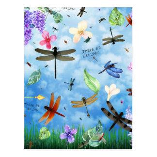 kelsey de Nola del arte de la libélula Postal
