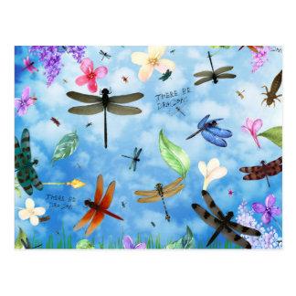 kelsey de Nola del arte de la libélula Tarjeta Postal
